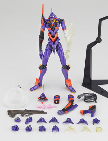 Kaiyodo Revoltech No.76 Evangelion 01 (awaken) and all the accessories