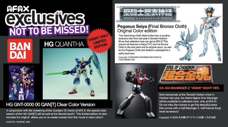 Anime Festival Asia X Bandai Event Exclusive Toy Offers