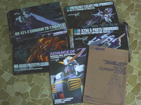 Gundam Advance of Zeta and Gundam OOP Dengeki Hobby Freebies