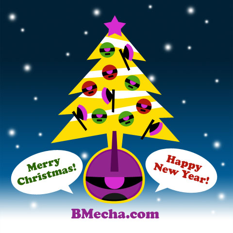 BMecha & Zaku Greetings - Merry Christmas and Happy New Year!