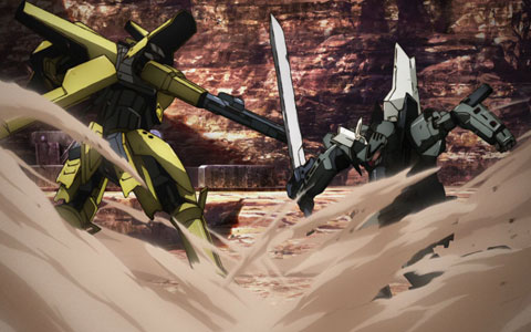 Broken Blade (Break Blade) Robot Anime - Rygart Arrow's Dirfinge VS Zess's Artemis