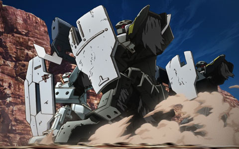 Broken Blade (Break Blade) Robot Anime - Krisna's Fenrir in formation