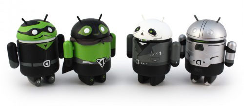 Google Android mini Collectible Super Hero Figures