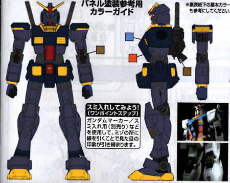B-Mecha's custom colour scheme RX-78-2 Gundam Titans Ver for rockleelotus Gundam Group Build