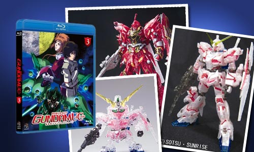 Mobile Suit Gundam Unicorn Limited Bandai Model Kits & Blue Ray DVD!