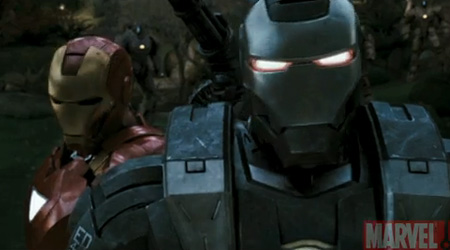 Marvel Iron Man 2 Movie Trailer - Iron Man and War Machine