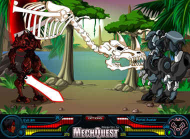 MechQuest, a free online browser base mecha game