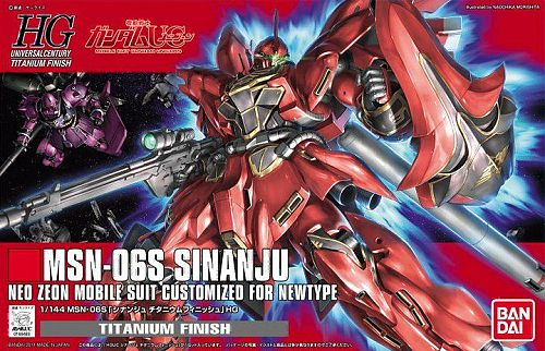 HGUC 1/144 MSN-06S Sinanju Titanium Finish Version