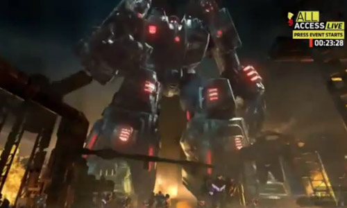 Transformers Fall of Cybertron: Metroplex & Dinobots VS Bruticus
