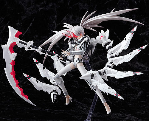 limited edition Figma White Rock Shooter (WRS) action figure for PSP Black Rock Shooter The Game